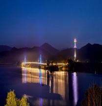 김천부항댐, 야간 관광명소로 발돋움!!!