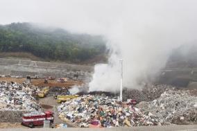 경북도, 폐기물 매립장 화재…자연발화를 막는 것이 해결책